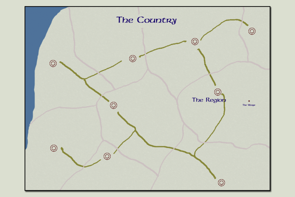the country map header